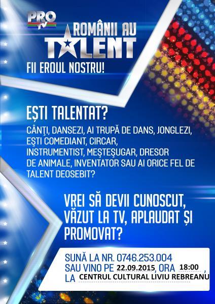 """Caravana  """"Românii au talent"""" ajunge la Aiud!!!"""