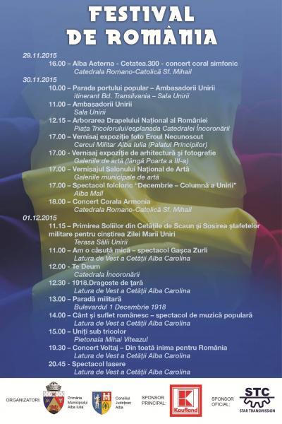 Festival de România. Programul Zilei Naționale a României