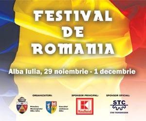 Festival de România. Programul oficial al zilei de 1 decembrie.