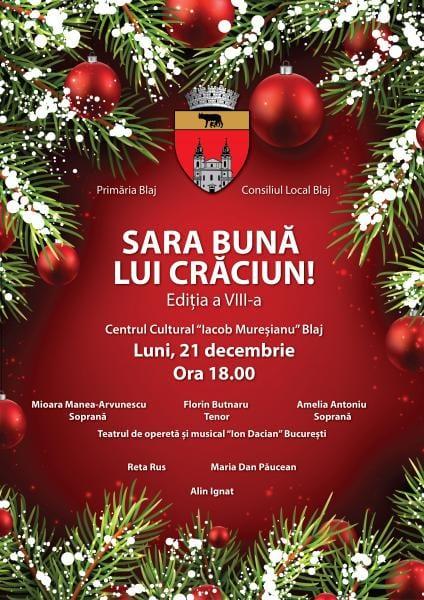 Concert de Crăiun în organizarea Primăriei Blaj. Comunicat