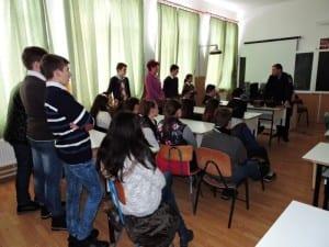 Elevii din Daia Română  au fost gazdele jandarmilor. Comunicat.