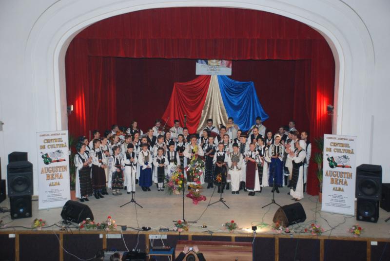 Artiştii profesionişti ai Centrului de Cultură Augustin Bena Alba sărbătoresc prin spectacol Unirea de la 24 ianuarie. Comunicat.