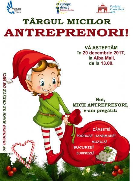 "Miercuri, 20 decembrie: ""Târgul micilor antreprenori"" la Alba Mall"