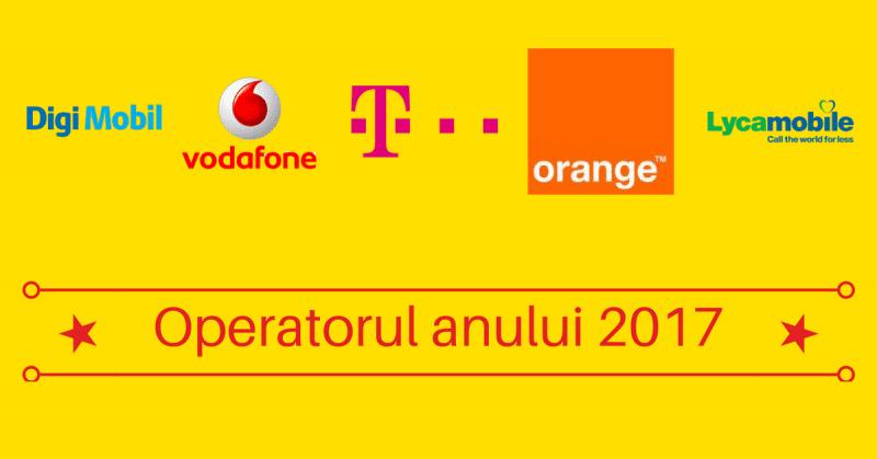 Cel mai bun operator de telefonie mobilă din România în 2017