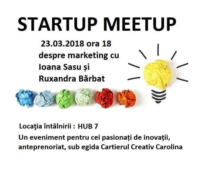 Vineri la HUB7: Startup Meetup despre marketing