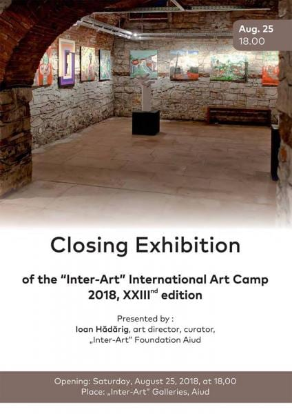 Aiud: Sâmbătă, 25 august Expoziţia de închidere a taberei / The art camp's final exhibition
