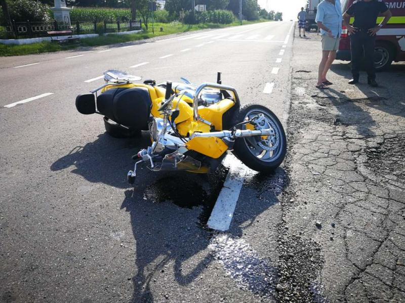 Motociclist german, accidentat la Șugag