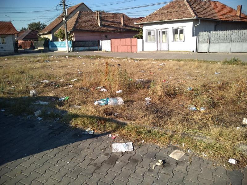 ȘTIREA TA (foto)- Covor de gunoaie pe un scuar de pe strada Craivei