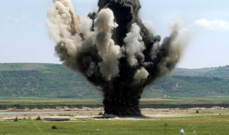 Detonare de muniție neexplodată pe dealul Mamut