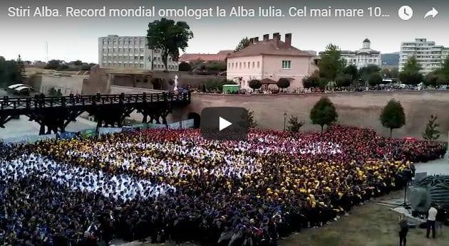Stiri Video: Cel mai mare 100 a fost realizat la Alba Iulia.