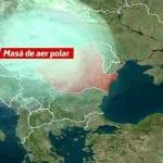 Un ciclon de aer polar aduce temperaturi scăzute și ploi în toată România