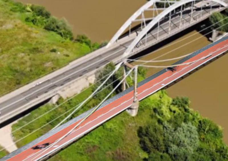 Inițiativă cetățenească lăudabilă. Organizația Partidului Pro România Alba propune construirea unui pod de biciclete peste râul Mureș.