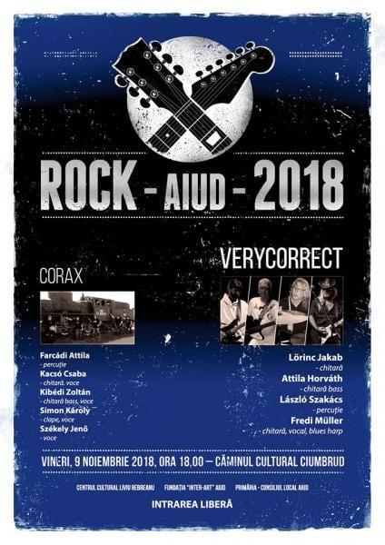 Vineri, 9 noiembrie, concert de muzică rock la Ciumbrud