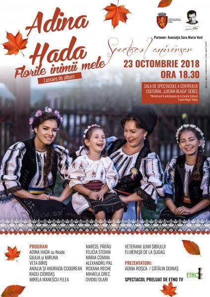 """Spectacolul aniversar """"Adina Hada și invitații săi"""" la Sebeș"""