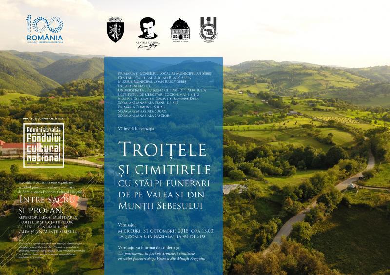 Expoziție de imagini cu troițe și stâlpi funerari în trei școli de pe Valea Sebeșului