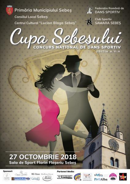 """Concursul național de dans sportiv """"Cupa Sebeșului"""", ediția a V-a"""