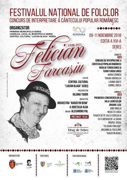 """Sebeș – Între 9 și 11 noiembrie are loc ediția a XVI-a a Festivalului Naţional de Folclor """"Felician Fărcaşiu"""""""