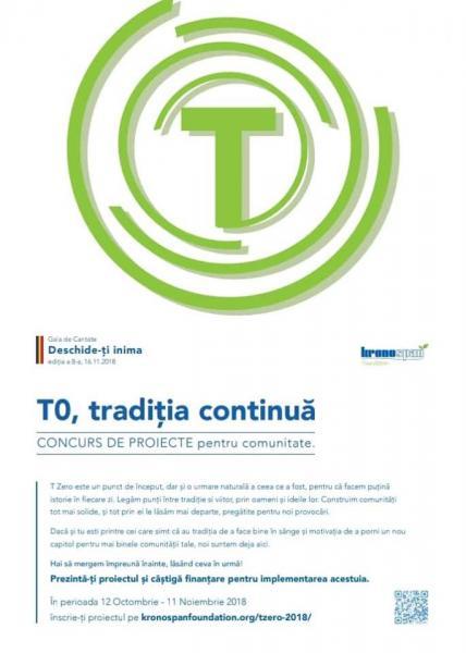 Fundaţia Kronospan a lansat selecţia de proiecte T Zero pentru dezvoltarea comunităţilor locale