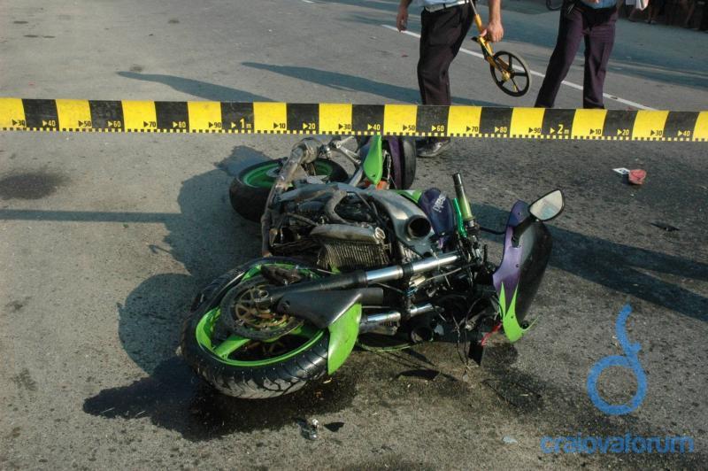 Accident grav de motocicletă în satul Loman, comuna Săsciori