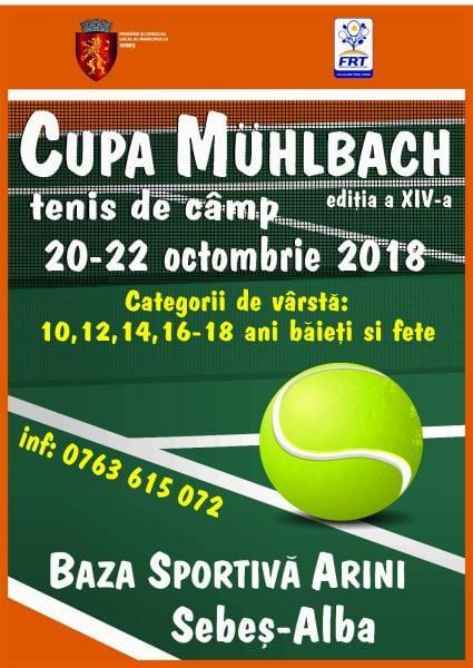 """20-22 octombrie, la Sebeș are loc ediția a IV-a a Cupei """"Muhlbach"""" la tenis de câmp"""