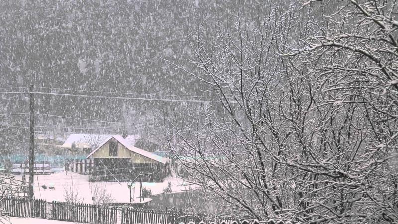 A căzut prima ninsoare în munții Apuseni