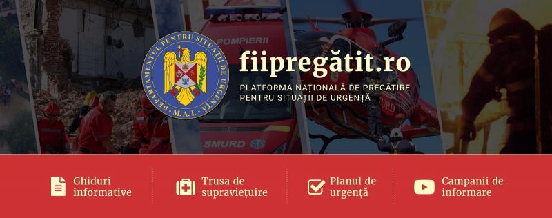 IGSU a lansat o platformă națională on-line pentru pregătirea populației pentru situații de urgență