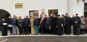 Sebeș – Dezvelirea plăcii omagiale dedicate delegaților Sebeșului de la Marea Unire