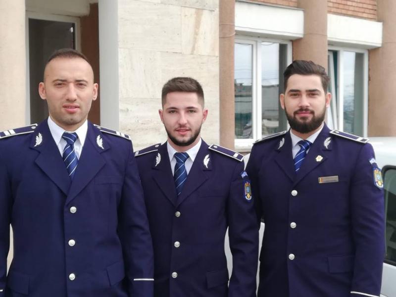 Ei sunt polițiștii care l-au prins pe agresorul fetei din scara blocului M3 din Alba Iulia (foto)