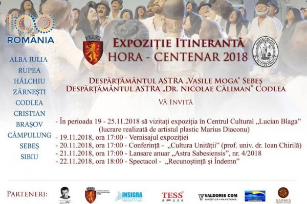 Sebeș - Expoziție itinerantă dedicată Centenarului Marii Uniri