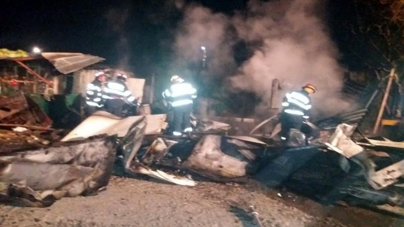 Alba Iulia – Incendiu la o baracă de lemn de pe strada V. Alecsandri