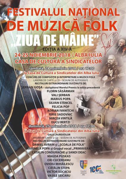 """Alba Iulia – Festivalului Național de Muzică Folk ,,Ziua de mâine"""", ediția a XIV-a"""