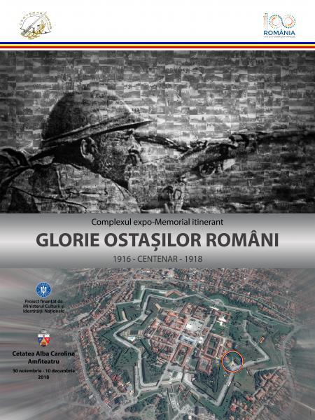"""Complexul expo-Memorial """"GLORIE OSTAȘILOR ROMÂNI"""", inaugurat la Alba Iulia"""
