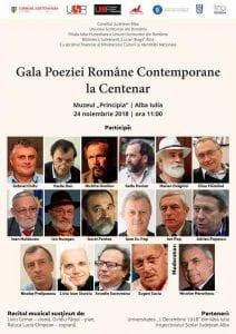 """Alba Iulia – """"Gala poeziei române contemporane la Centenar"""""""