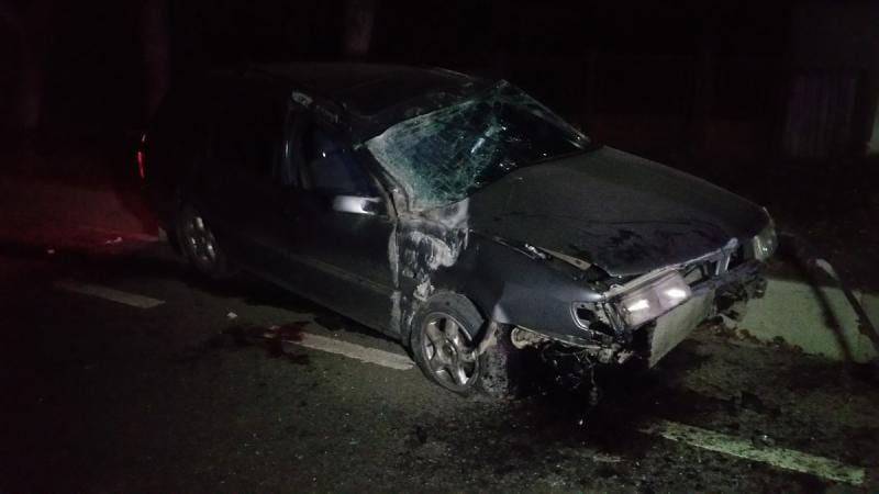 Blaj – Un șofer beat a intrat cu mașina într-un cap de pod