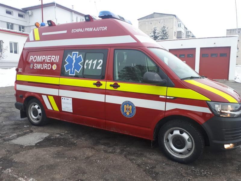 ISU Alba a primit două ambulanțe SMURD noi-nouțe