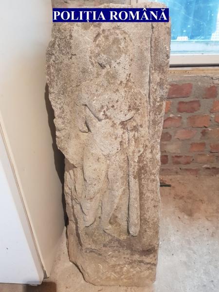 Alba Iulia – Sculptură antică, recuperată de polițiștii IPJ Alba (foto)