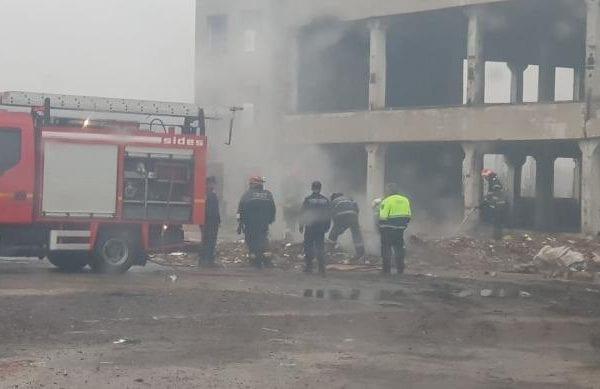 Sebeș - Incendiu la un morman de deșeuri din zona Kogălniceanu (foto exclusivitate)