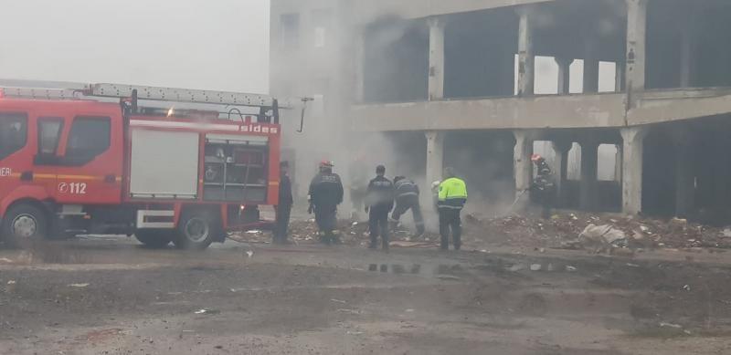 Sebeș – Incendiu la un morman de deșeuri din zona Kogălniceanu (foto exclusivitate)