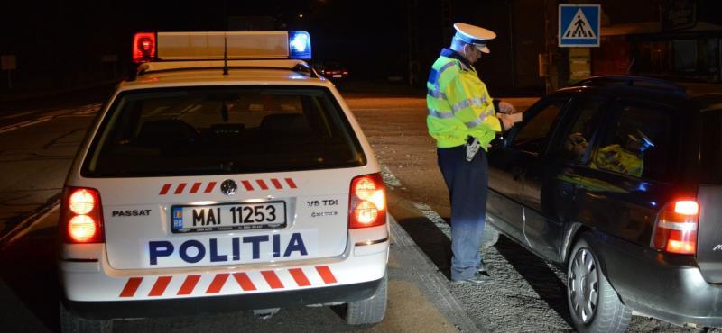 Blaj – Un tânăr, prins de poliția rutieră fără permis de conducere și băut la volan