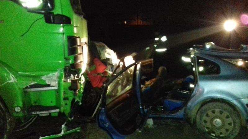 Aiud – Accident cu trei victime la ieșirea din oraș spre Teiuș