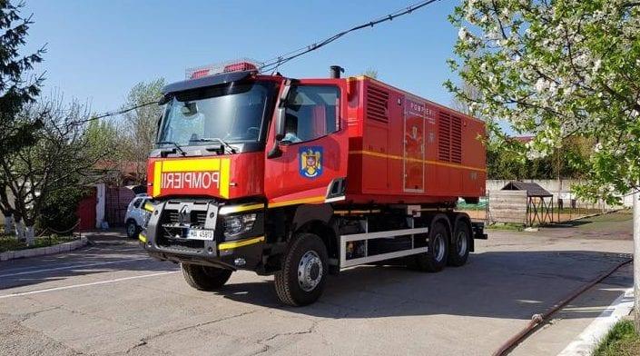 Pentru a ajuta populația din județul Timiș rămasă fără curent electric, ISU Alba a trimis o autospecială-generator