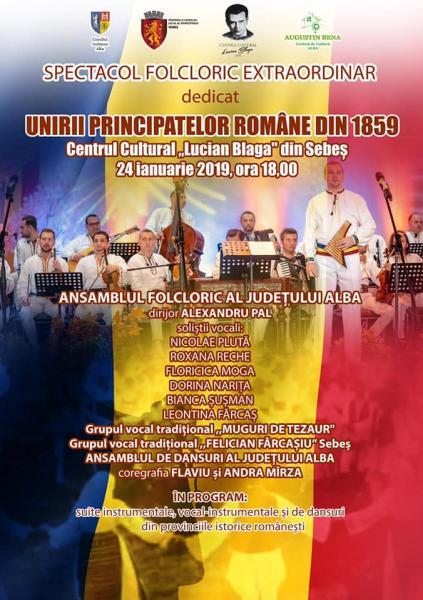 Sebeș – Spectacol folcloric extraordinar dedicat Unirii Principatelor Române din 1859