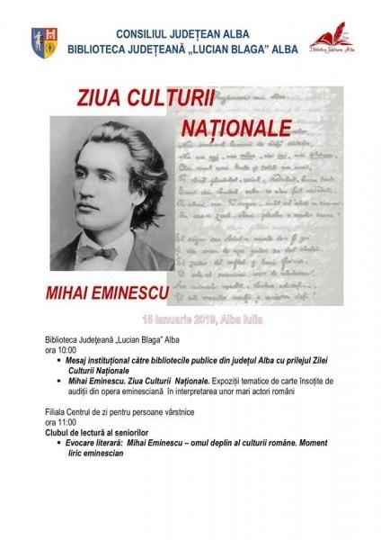 """Ziua culturii naționale, sărbătorită și la Biblioteca Județeană ,,Lucian Blaga"""" Alba Iulia"""