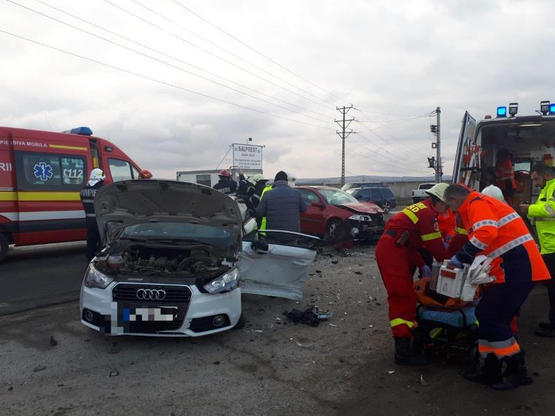 Alba Iulia – Accident grav pe șoseaua de centură (live foto)