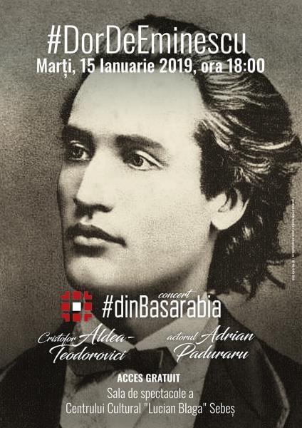 Sebeș – Manifestări dedicate împlinirii a 169 de ani de la nașterea poetului Mihai Eminescu