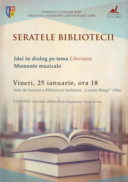 "Alba Iulia – Eveniment cultural-artistic la biblioteca ""Lucian Blaga"""