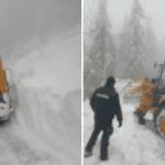 Arieșeni - Circulația rutieră întreruptă din cauza unei avalanșe UPDATE