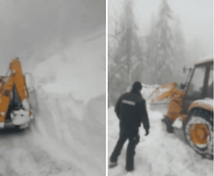 Arieșeni – Circulația rutieră întreruptă din cauza unei avalanșe UPDATE