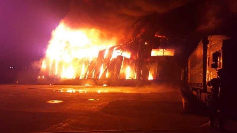 Incendiu catastrofal la fabrica Solina (fosta Supremia)
