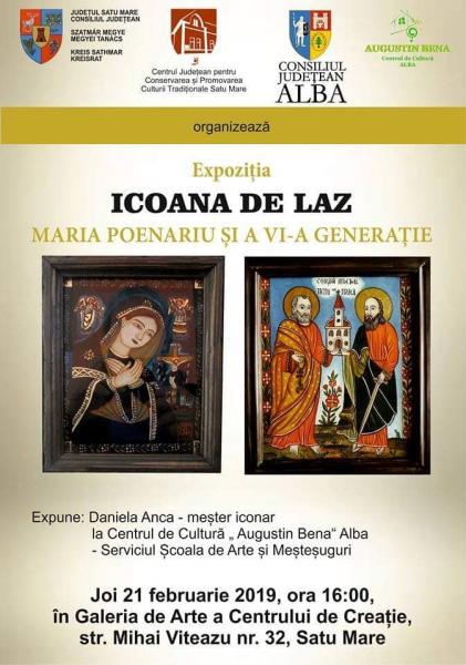 Icoanele din Laz, prezentate într-o expoziție în Galeria de Arte din Satu Mare